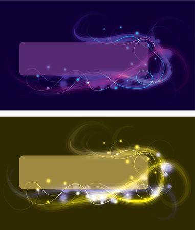 Blurry swirling light effect boxes Stock Photo - 6854920