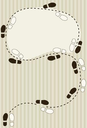 コピー スペース足跡ダイアグラムの背景をダンス