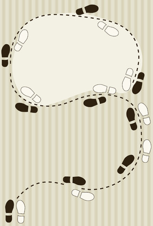 or instruction: Dancing footstep diagram background with copy space
