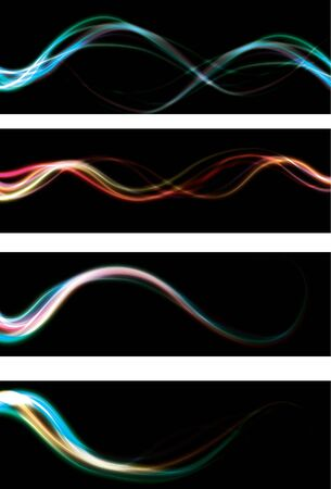 Blurry abstract neon light effect web banner backgrounds Stock Photo - 7014435