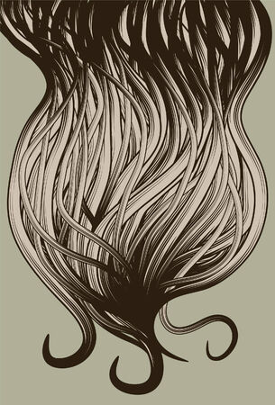 Abstract hand drawn beard hair background