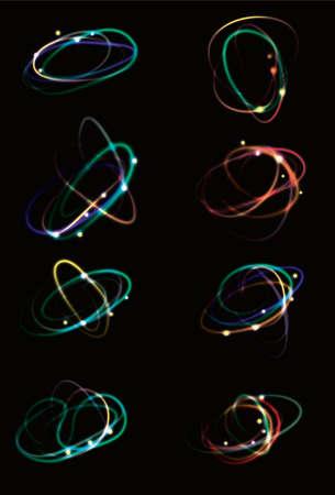 gloeiende licht effect Krabbels Stock Illustratie