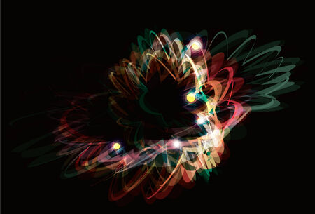 Funky abstract light effect painting background Vector