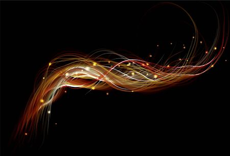 Blurry abstract fire background Illustration