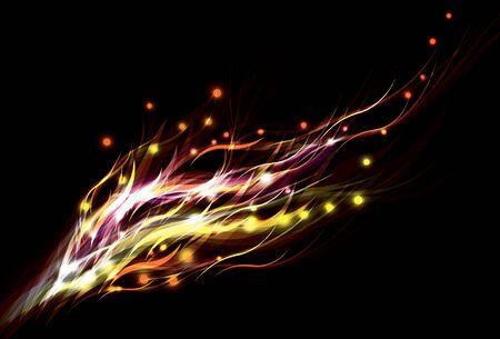 Blurry abstract orange light effect background
