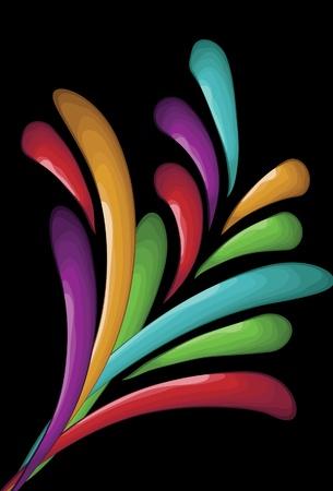 colorful swirl burst background Stock Vector - 9945959