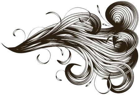 intricate: abstract hand drawn swirl background Illustration