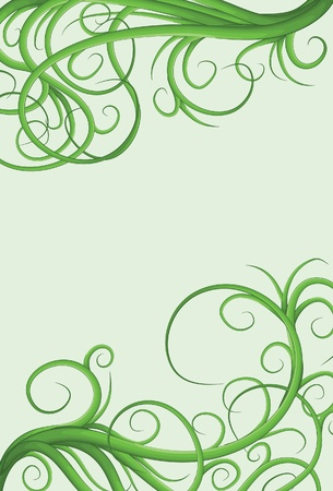 Hand drawn illustrated jumbled vine page border