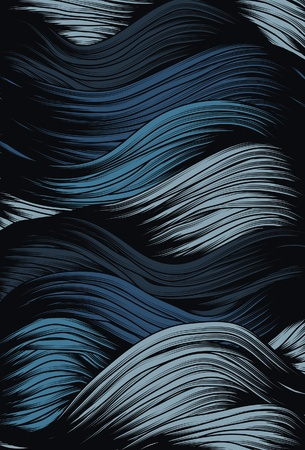 Abstract curly stormy wave background Vector