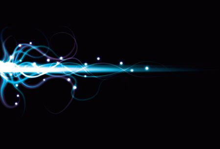 Blurry abstract energy beam blue background
