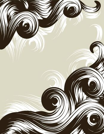 bordure de page: Hand Drawn bordure de page orn�e