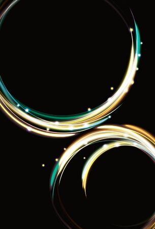 Zoomen abstrakte Lichteffekt Kreis Hintergrund Vektorgrafik