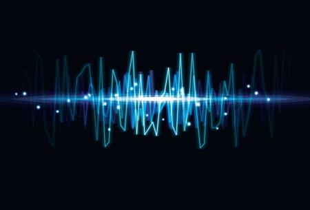 오디오: 흐릿한 추상 오디오 파 조명 효과 배경