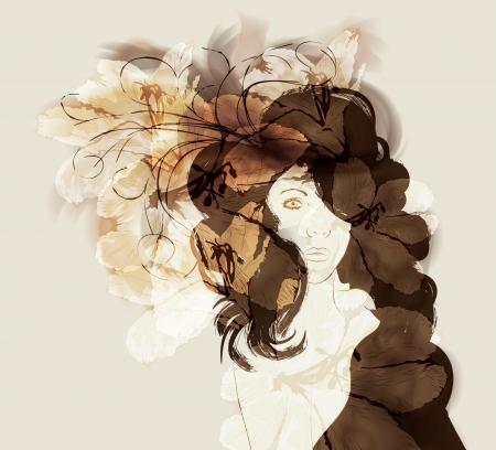 zerzaust: Hand gezeichnet abstrakten Modeillustration Illustration