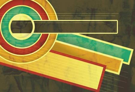 funky music: Funky Retro Grunge background layout Illustration