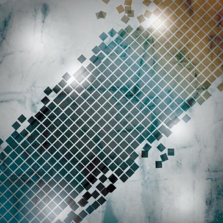 Grunge glowing broken square background Stock Vector - 20304179