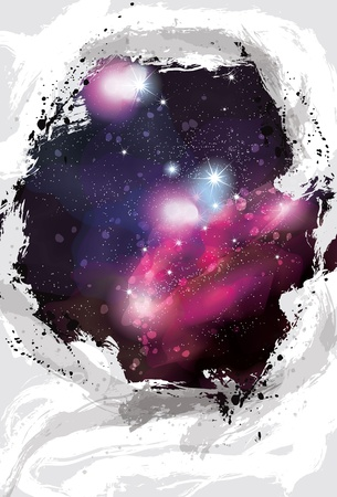 Artistic painted grunge space background Stock Vector - 21186495