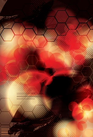 Blurry red abstract light effect vector background Illustration