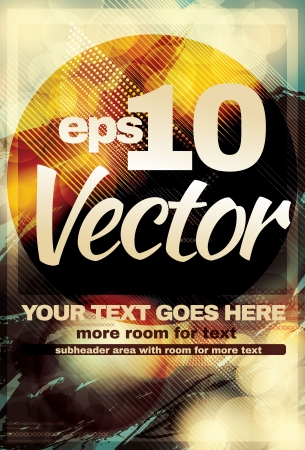 Retro Abstract light effect club flyer Vectores
