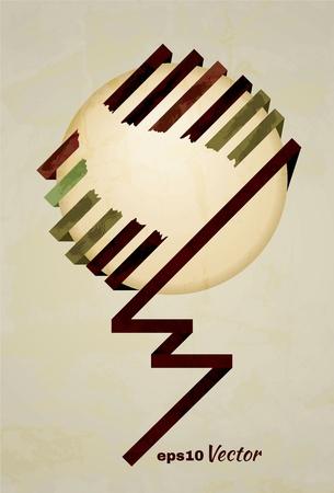 minimalist: minimalist retro circle with wrapping ribbons