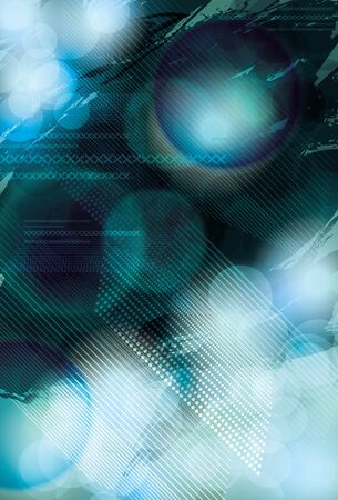 Blurry and bright blue abstract light effect background Vector