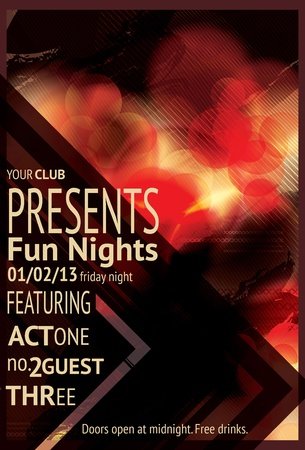 Retro Abstract triangle design light effect club flyer 矢量图像