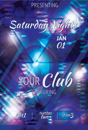 book club: Shining  space style triangle light effect club flyer