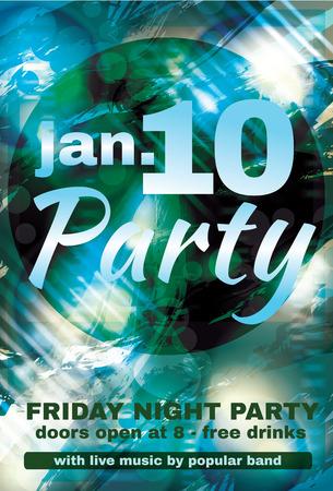 night club: Shiny Abstract night club flyer