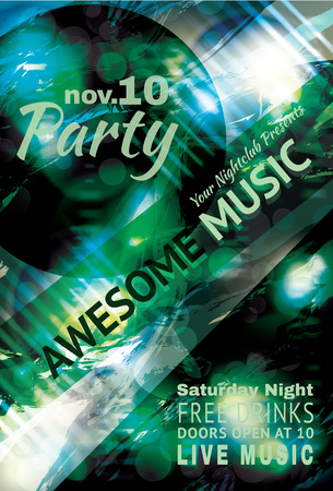 Music party flyer template Vector