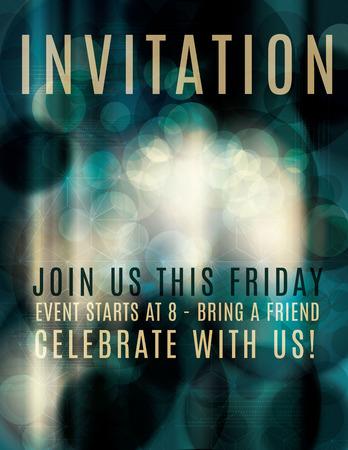 Dark Abstract light effect invitation flyer Vector