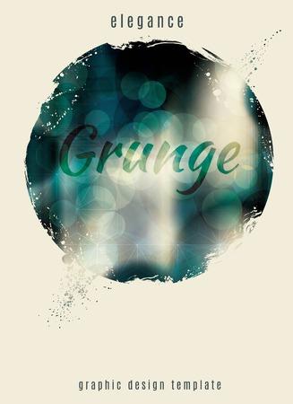 Elegant and modern grunge circle template Illustration