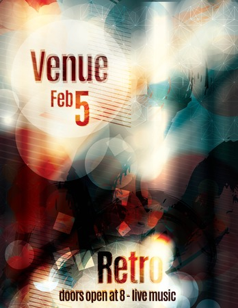 decoration messy: Awesome blurred abstract flyer template