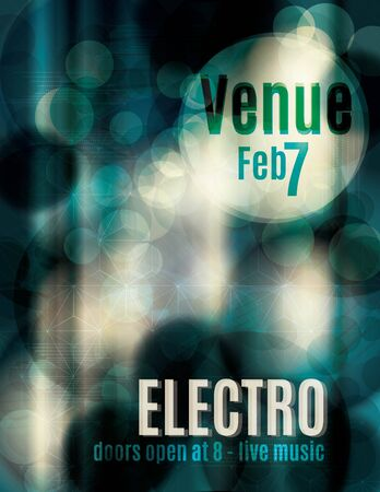 Electro abstract light effect flyer template Vector