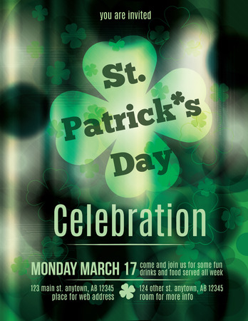 St  Patrick s Day Pub Flyer Template Vector