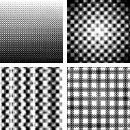 Set van Screentone patronen voor Manga of Strip