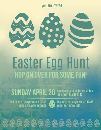 Beautiful Easter egg hunt invitation flyer