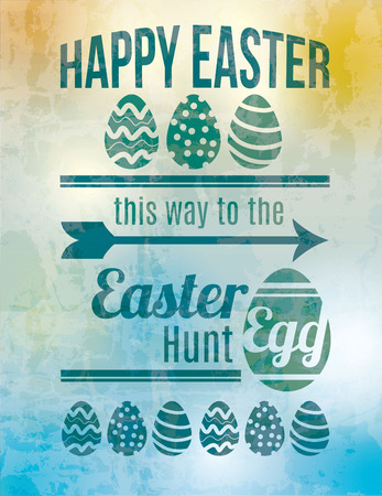 Easter egg hunt sign Vector