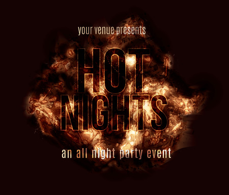 cover: A fiery hot explosion text effect background with glowing abstract grunge elements