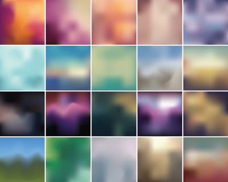 lomo: Complete set of retro color blurry abstract backgrounds