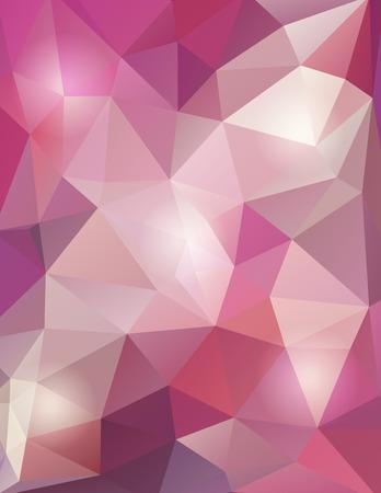 Bright pink vector polygon geometric background Illustration