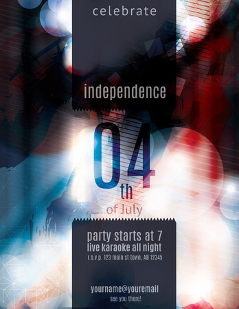 Modern 4th of July grunge flyer template Vector