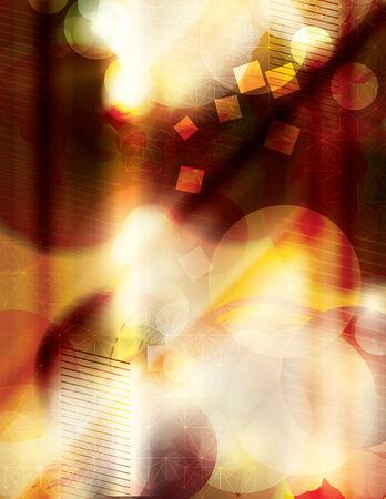 Retro Abstract Summer Night Achtergrond