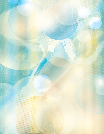 Grunge Abstract Bright Summer Day Background