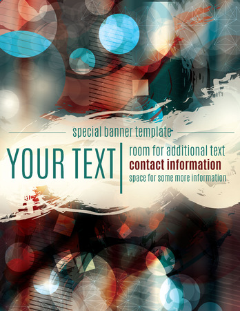 Painted blurry grunge banner flyer template Illustration