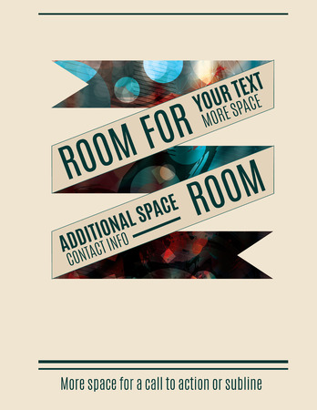 graphic presentation: Retro banner with abstract background flyer template Illustration