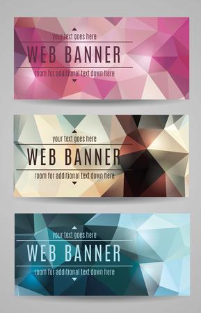 Moderne vector abstracte polygonale web banners Stock Illustratie