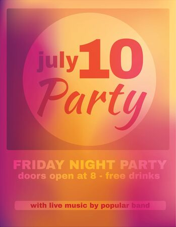Vibrant pink and yellow party poster template design Ilustrace