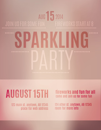 flyer background: Blurry abstract pink and red party invitation flyer or poster template design Illustration