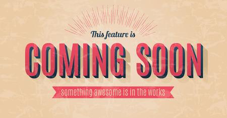 soon: Retro tekst effect voor een vector binnenkort ondertekenen