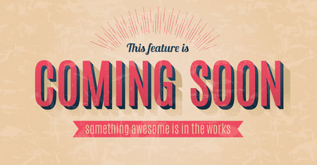 text pink: Retro text effect for a vector coming soon sign